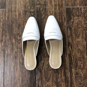 Ann Taylor Leather Loafer Slides